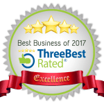 Best Business of 2017 Seal rated by Three Best Rated