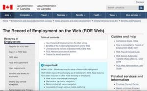 Employment Insurance Documents (ROE)