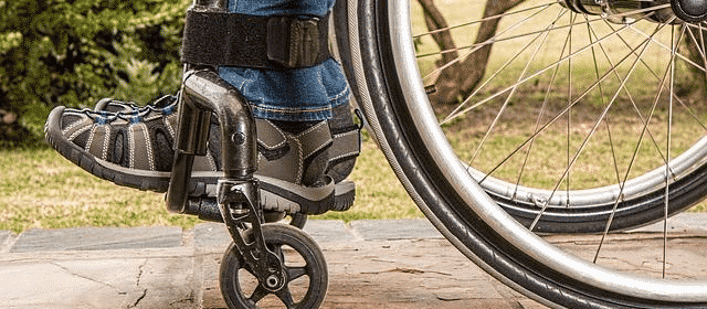 Close up of two feet in a wheelchair | disability claims denied
